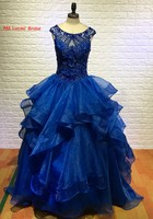 Luxury Red Royal Blue 2016 Quinceanera Dresses Ball Gown Sweet 16 Year Princess Dresses For 15 Years Vestidos De 15 Anos