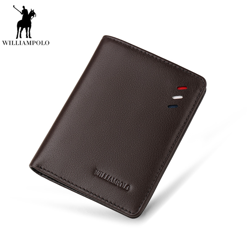 WILLIAMPOLO Men Slim Wallet Ultrathin wallet Leather Genuine Leather Pouch Male Classic Design Ultra Thin Cowhide Purse PL250 2016 special wholesale male wallet wander settling anywhere a stall with spread out on ground short fund wallet ultrathin will