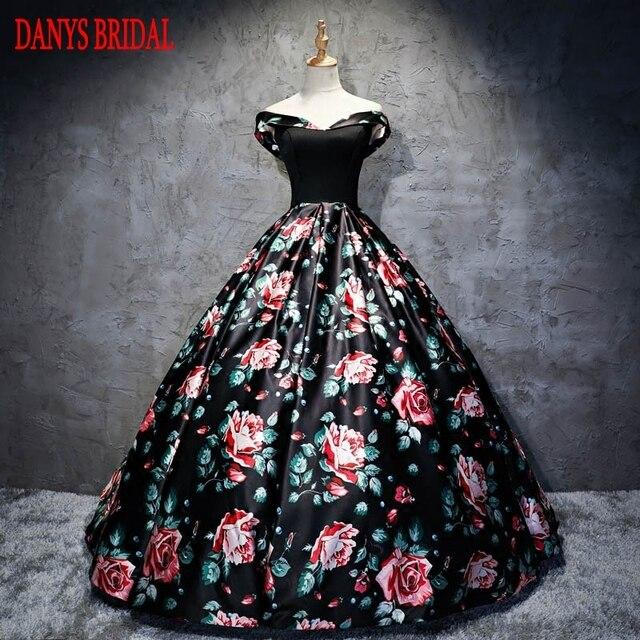 677adc45fb Floral princesa quinceanera vestido para 15 años Niñas hermosa mascarada  lentejuelas dulce 16 Vestidos bola vestidos