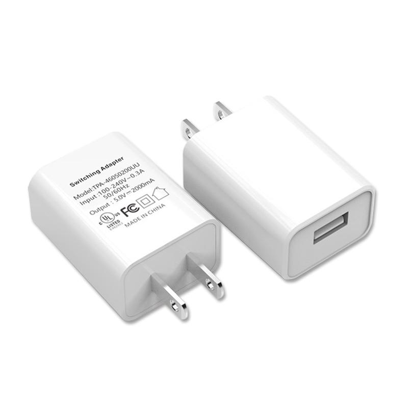 Adaptador de carregamento rápido 5v2a, plugue de conversão de carregamento para telefone, usb, viagem, eua, japão, tailândia, canadá, colômbia