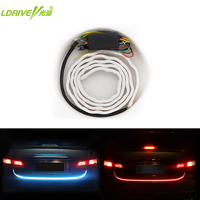 New Car Rear Trunk Streamer Strip Light Blue And Red Safety Drving Brake Turn Signal Lamp
