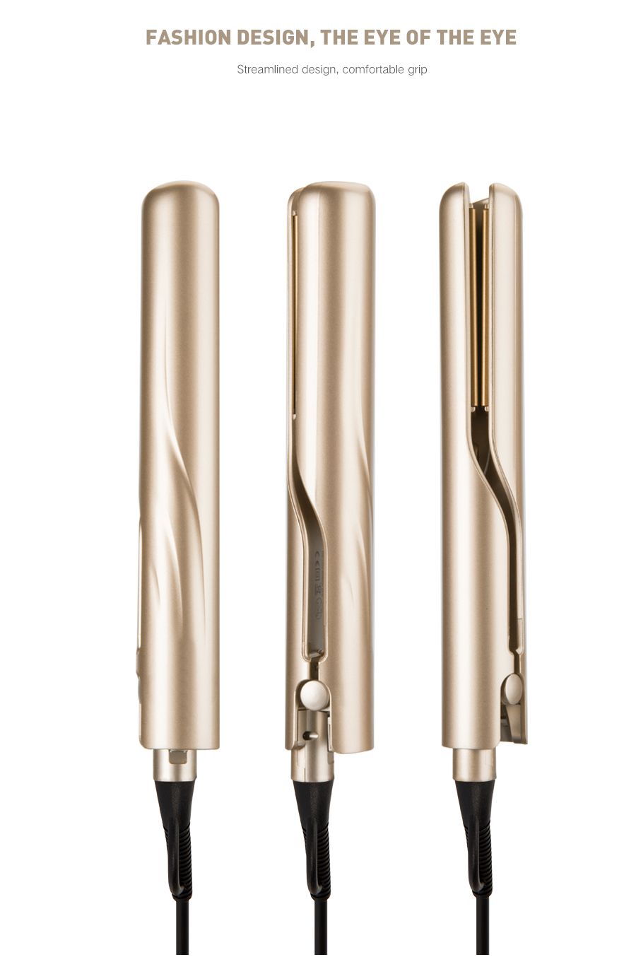 2-in-1 Rechargeable Hair Straightener & Curling Iron 7