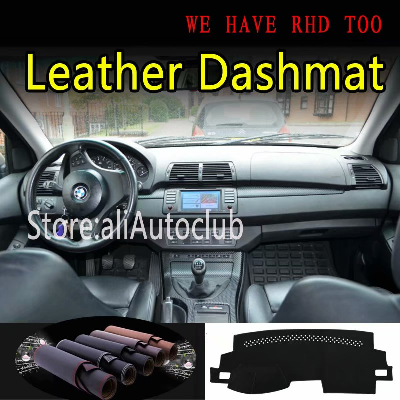 For BMW X5 <font><b>E53</b></font> 2000 <font><b>2001</b></font> 2002 2003 2004 2005 2006 Leather Dashmat Dashboard Cover Pad Dash SunShade Carpet Custom Accessories image