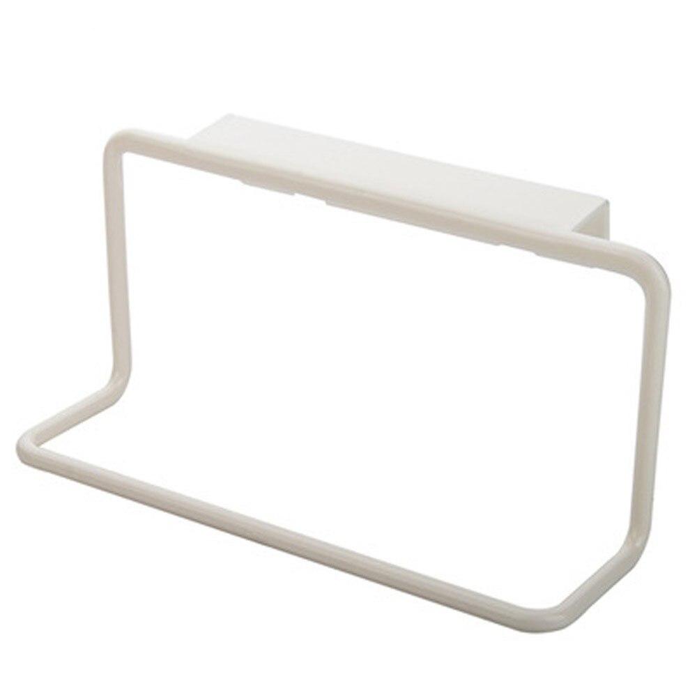 Держатель для полотенец вешалка для полотенец подвесной держатель Органайзер для ванной комнаты кухонный шкаф вешалка для шкафа - Цвет: Белый