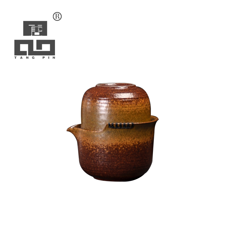 TANGPIN japanese ceramic teapot gaiwan teacup handmade portable travel tea set