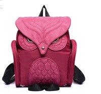 Fashion Cute Owl Backpack Women Cartoon School Bag For Teenagers Girls PU Leather Rucksack 2017 Brands