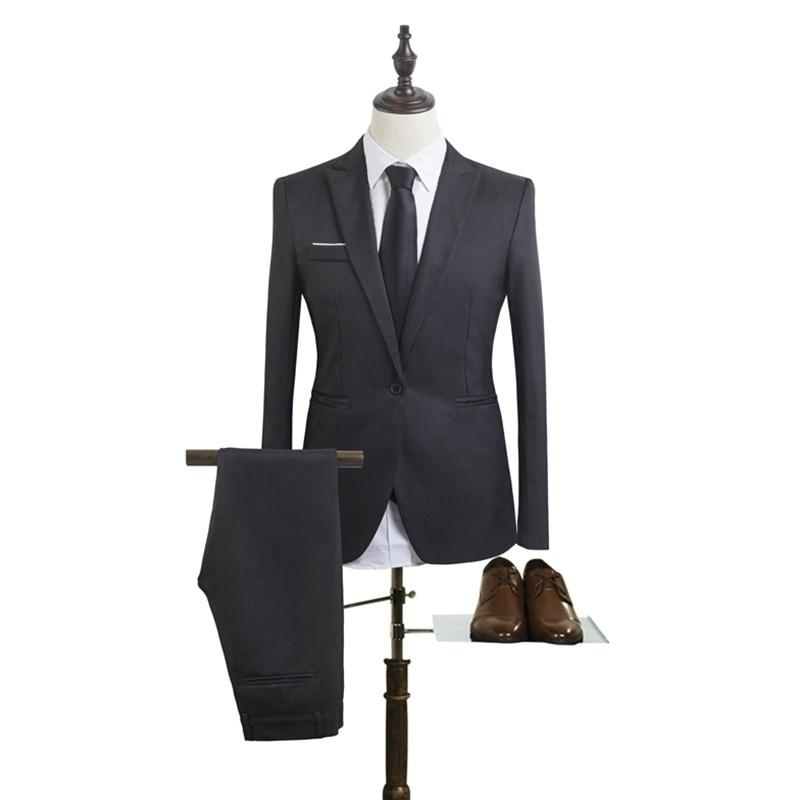 Mens Wedding fashion Brand Suits Tuxedo Set Slim Fit Man Suits Blazer Masculino hot sale Suit For Men Groom wedding dress