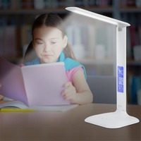 7.5W Foldable Table Lamp LCD Display Reading Book Light Touch Sensitive Desk Lamp Rechargeable Student Study LED Light EU Plug