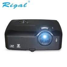 Rigal CE5000 DLP 5000 Lúmenes Ansi 3D HD Proyector DLP Enseñanza de Cine con HDMI USB proyector Proyector para la Educación de Negocios VGA