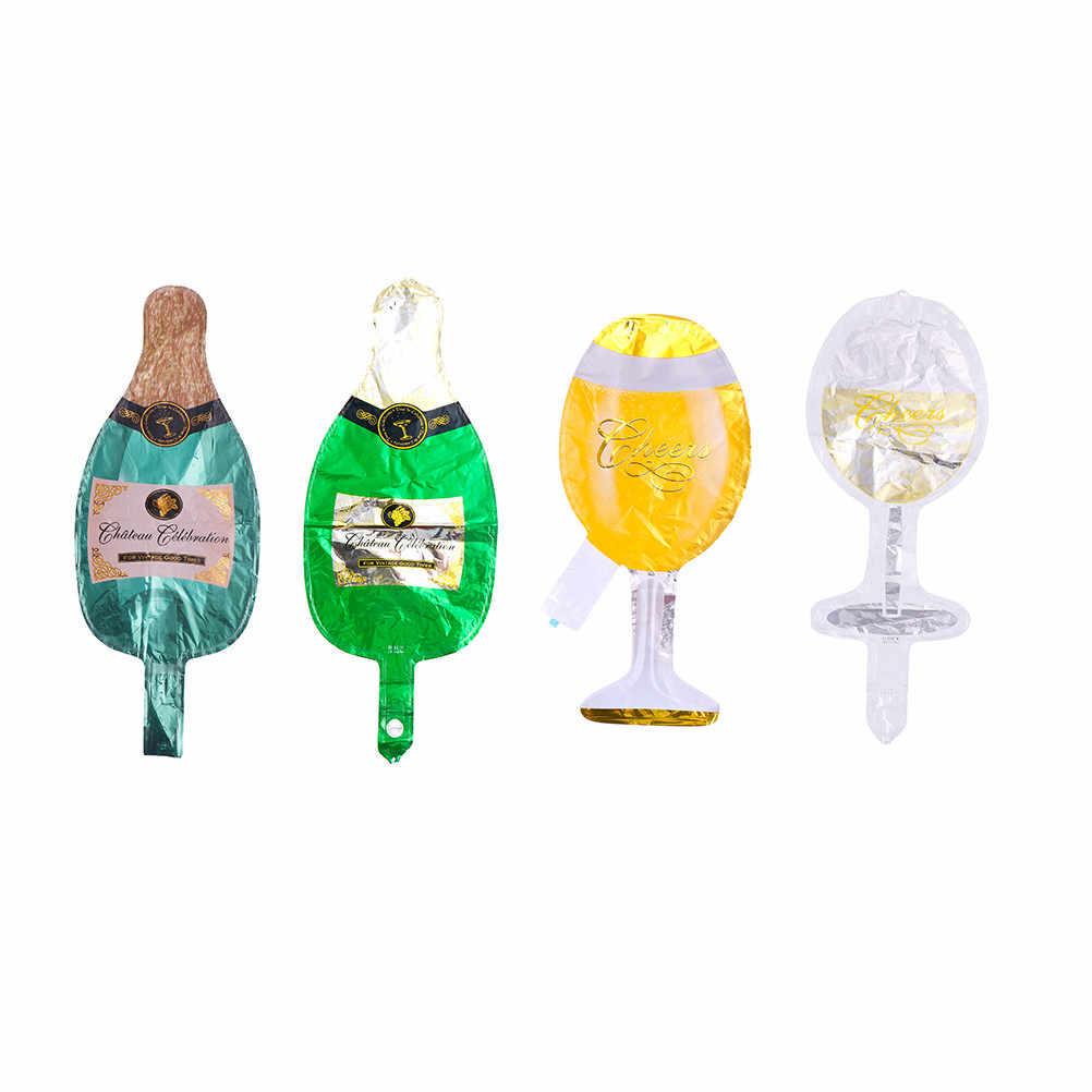 Alta calidad 1 piezas Ballon copa Champagne botella de cerveza globos niños juguetes Año Nuevo Fiesta de suministros de decoración