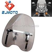 Universal Motorcycle Windshield Windscreen For Harley Honda Yamaha Shadow RS ACE Aero Spirit 750 1100 V Max 1200 V Star 650