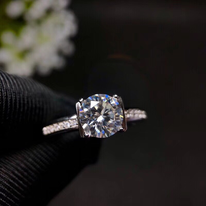 Moissanite, 925 Zilveren fashion design, sterke brand kleur, diamant, hoge hardheid 1.2ct - 2