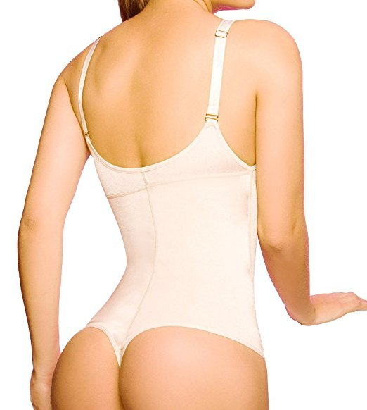 Women's Seamless Firm Control Shapewear Open Bust Bodysuit Body Shaper