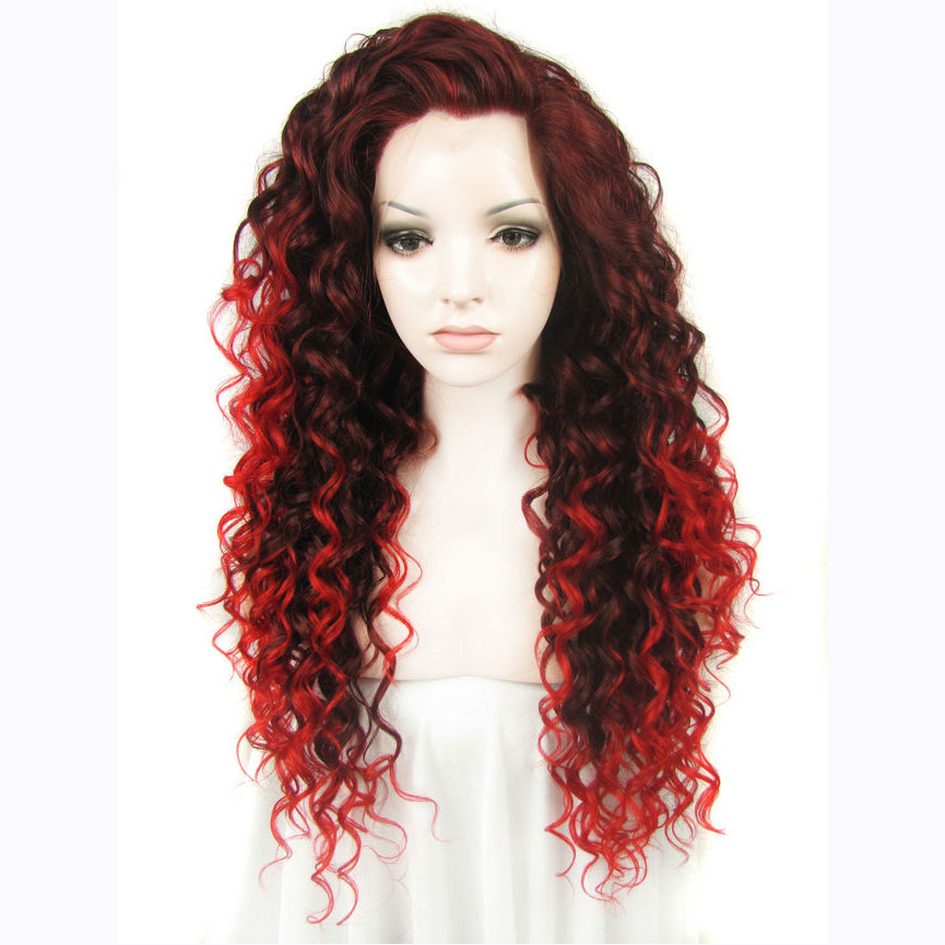 Terrific Online Get Cheap Curly Synthetic Lace Front Wig Aliexpress Com Hairstyle Inspiration Daily Dogsangcom