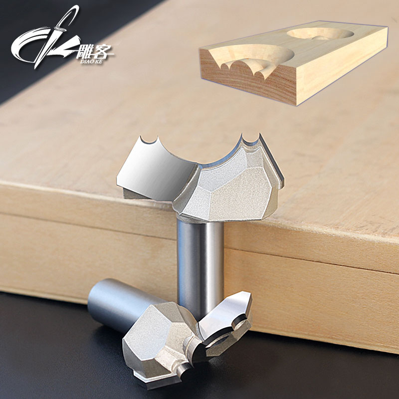 1pc 12.7mm shank CNC woodworking carving tools milling cutter router bits for wood 1/2 SHK 5pcs woodworking 3 flute shank 6mm cnc router bits mill spiral cutter tungsten carbide density board carving tools cel 28mm