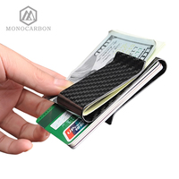 2017 Top Grade Genuine 3K Twill Double Carbon Fiber Money Clip Deluxe Double Sides Multifunction Money