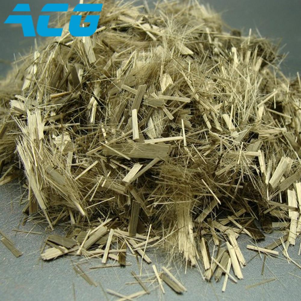 chopped basalt fiber strand  filament 3-90mm length for concrete asphalt highway brake material