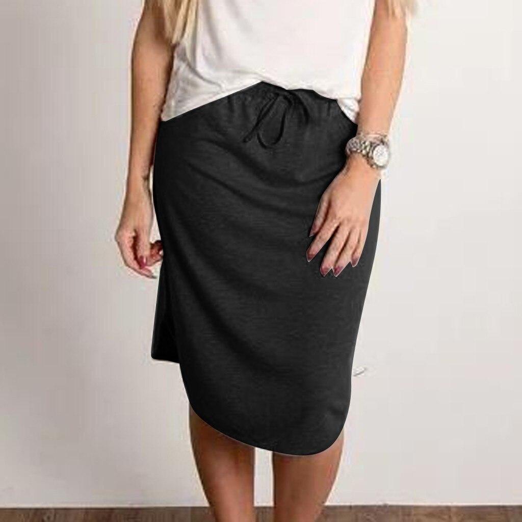Women Sexy Elastic Short Skirt Fashion high waist Pure Color Skirts Summer breathable grote maten dames kleding