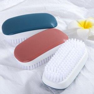 Image 1 - FOURETAW 1 sztuka niebieski różowy użytku domowego typu miękkie futro szczotka do czyszczenia butów wygodna szklana podłoga grill toaleta ubrania szczotka do czyszczenia