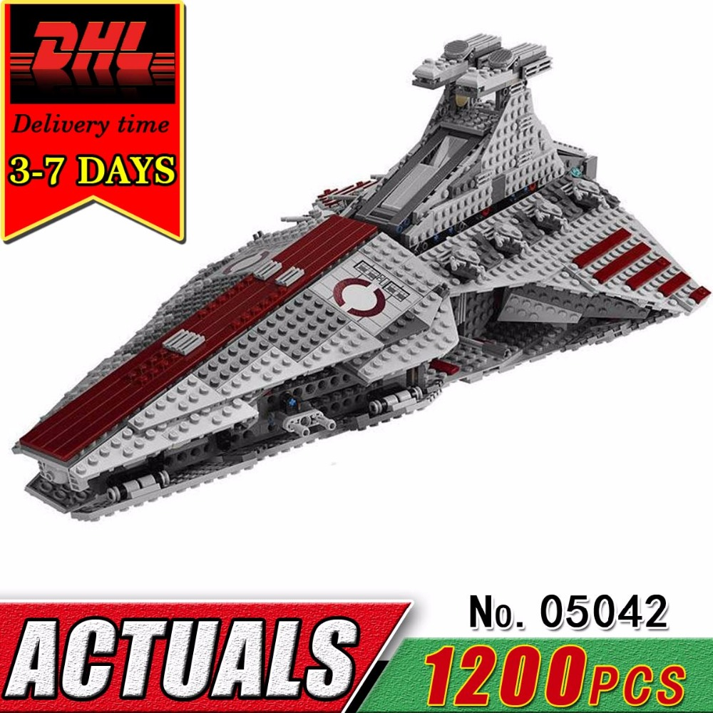 DHL LEPIN 05042 Star Series The Republic Fighting Cruiser Military War Compatible Brick Building Blocks Children Classic Toy Kid the last fighting tommy