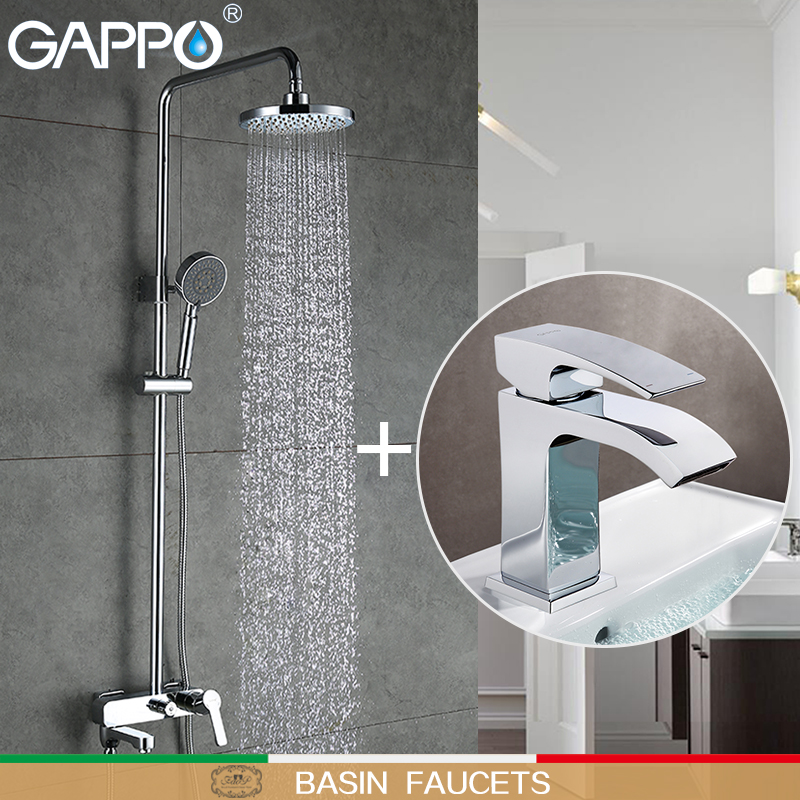 GAPPO Basin Faucets water taps basin sink faucet brass shower faucet bathroom mixer shower taps Sanitary Ware Suite