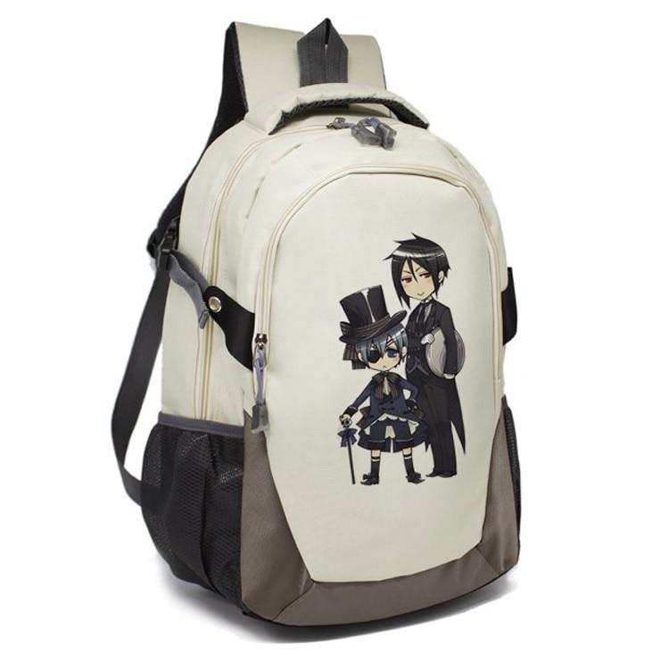 Anime Kuroko No Basuke / Black Butler/Attack on Titan Backpack for Teenage boy Girls Cartoon School Bags Unisex Travel Bag
