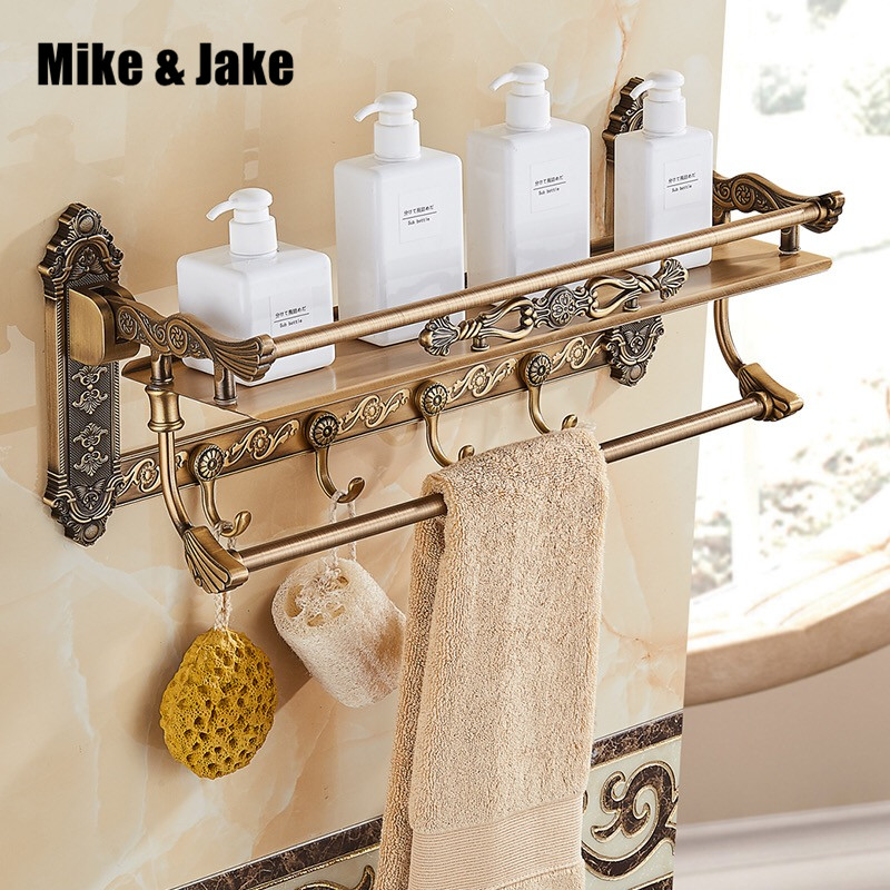 Bathroom Multifunction antique shelf and towel bar aluminum antique retro us vintage bathroom shelf with hook bathroom accessoryBathroom Multifunction antique shelf and towel bar aluminum antique retro us vintage bathroom shelf with hook bathroom accessory