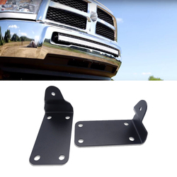 Front Lower Hidden Bumper Mounting Brackets For 40 inches Curved LED Light Bar Fits 2010-2019 Dodge Ram 2500 3500 Models