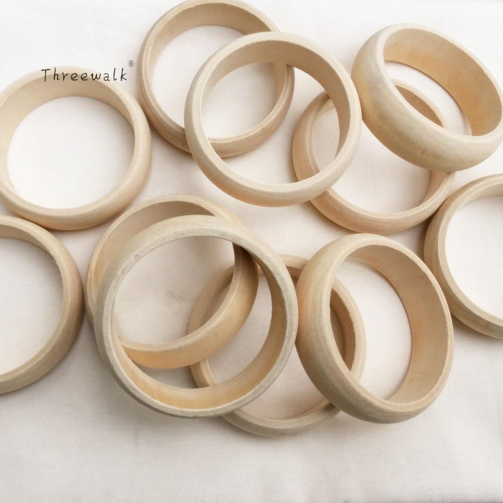 ღ ღ6.2 diámetro interior de madera sin terminar brazalete pulsera ...
