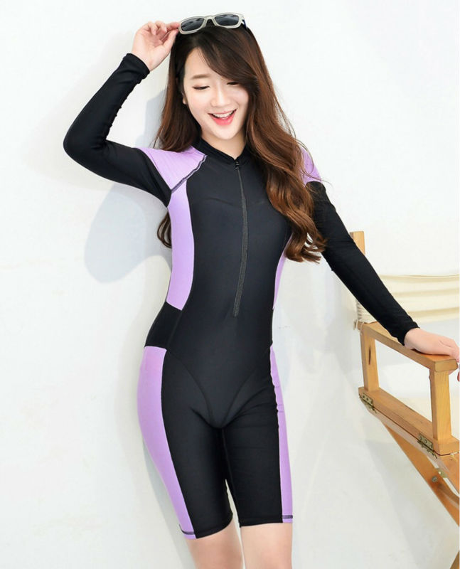 23de3c6300 2016 Summer Long Sleeve Swimwear surf Beach Sexy Diving Suit Slim ...