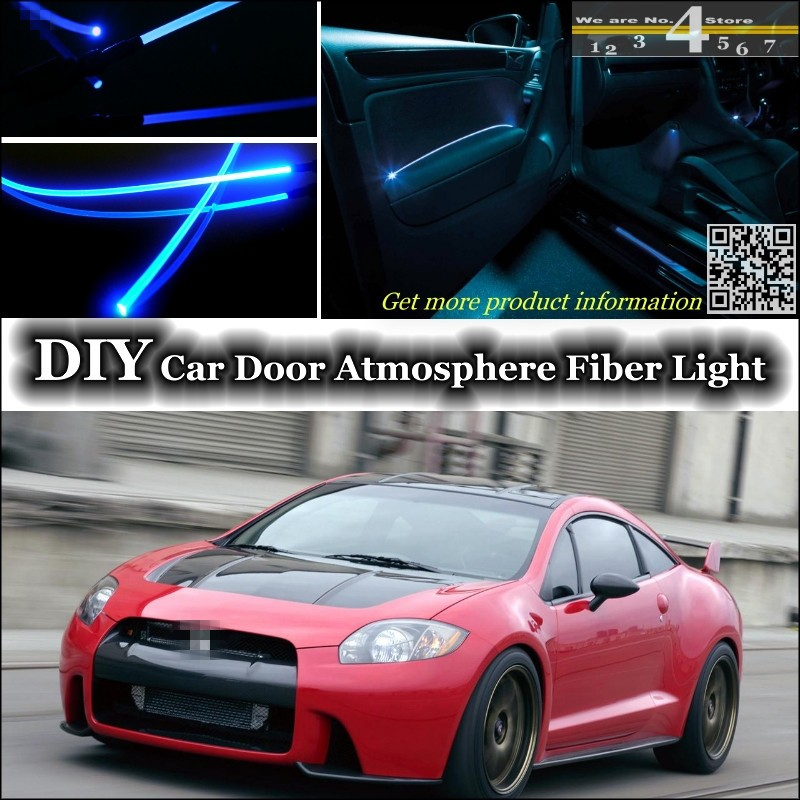 For Mitsubishi Eclipse Plymouth Laser Eagle Talon interior Ambient Light Tuning Atmosphere Fiber Optic Band Lights Inside Door