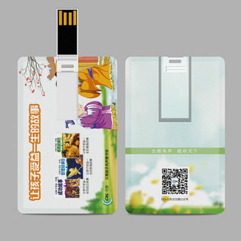 Promotional Custom Plastic Ultrathin VIP Card Shape Usb Flash Drive 4gb 8gb 16gb Ultra Slim Card With Logo Usb Memory Stick