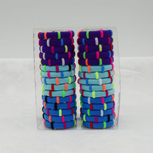 30 pcs/pack Cute Dot Elastic Hair Bands Ties Elastic Rope Ring Hairbands Ponytail Holder Elastic Hair Bands For Ladies Girls