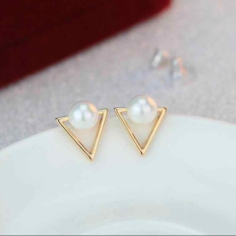 Nouvelles boucles d'oreilles mode bijoux personnalité exagérée Simple géométrique étoile Shell Imitation perles boucles d'oreilles pour les femmes en gros