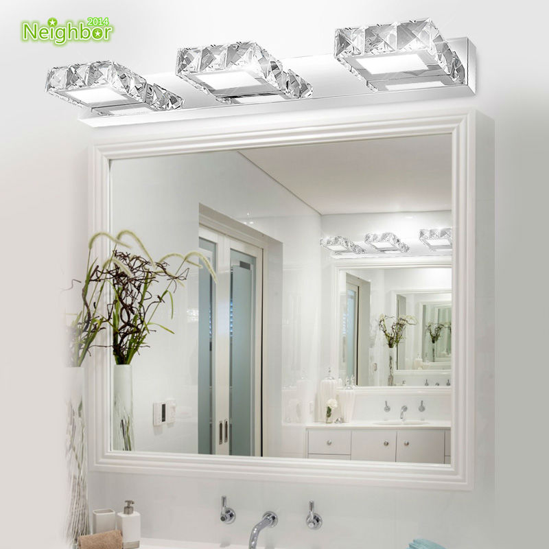Aliexpress Buy Modern LED Indoor Wall Light Lamps Banheiro Deco Bathroom Mirror Acrylic Shade Crystal Sconce For Home Lighting Fixtures From