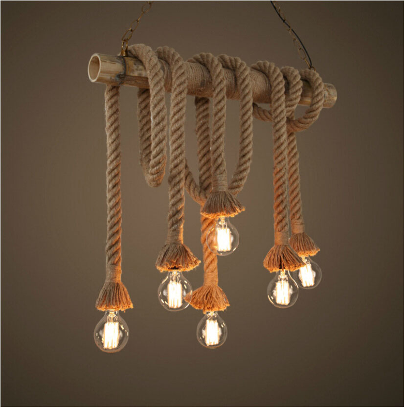 Led pendant light bamboo rope light lumiere black hanging lamp rope led pendant light bamboo rope light lumiere black hanging lamp rope pendant lights e27 lamp 3 light rope lamparas lampen loft in pendant lights from lights aloadofball Images
