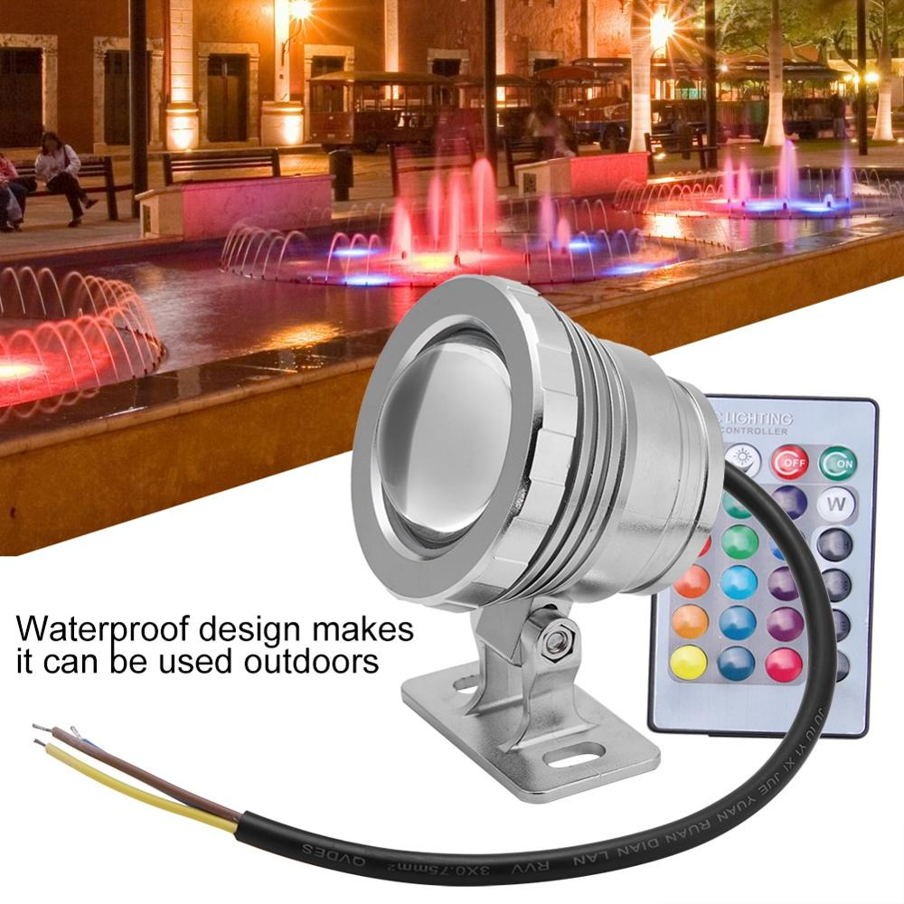 RGB LED Underwater Light Waterproof Multi color Underwater Light RGB Light Lamp for Outdoor Garden Spotlight Landscape Fountain in LED Underwater Lights from Lights Lighting