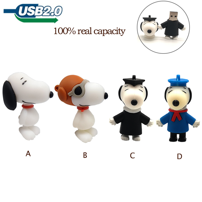 Pendrive Cartoon Dogs Usb Flash Drive 4GB 8GB 16GB 32GB 64G Real Capacity Memoty Stick Cute Doctoral Dog Creative Gift Pen Drive