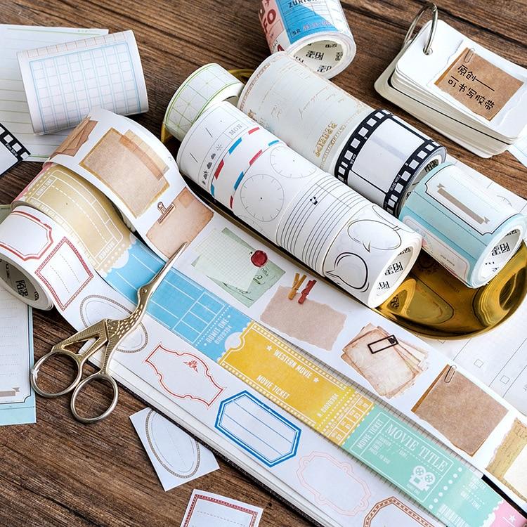 Creative Writing Square Note Washi Tape Adhesive Tape DIY Scrapbooking Sticker Label Craft Masking Tape