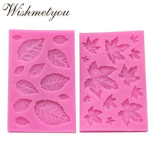 WISHMETYOU New Arrival 3D Leaves Silicone Soap Mold Maple Leaf Cake Decorating Tools Fondant Kitchen Accessories Diy Supplies