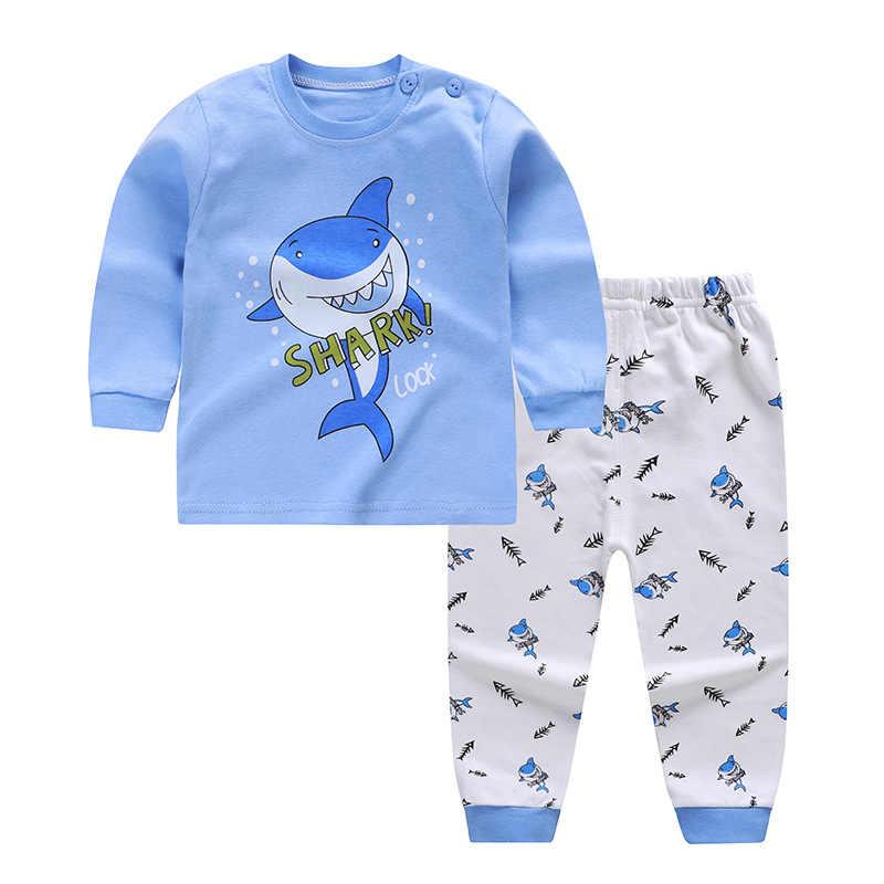 Conjunto de ropa para niños dibujos animados coches ropa disfraz recién nacido manga larga Camiseta pantalón traje infantil algodón blusa pantalones conjunto
