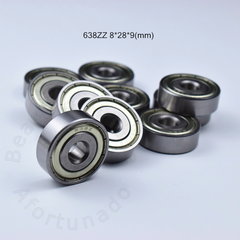 638ZZ bearing 8*28*9(mm) ABEC-5  9pcs Metal Sealed Miniature Mini Bearing 638 638Z 638 ZZ chrome steel bearing