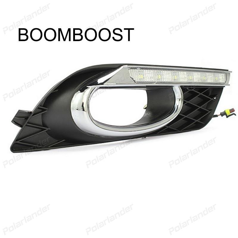 BOOMBOOST CAR DRL LED FOG LAMPS For  H/onda C/ivic 2011-2015 Car styling daytime running lights daytime running lights car styling for h onda c ivic 2011 2015 auto drl fog lamps