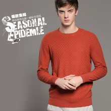 Men Sweater 100% Pure Cashmere Sweaters Plus Size Winter Warm O- neck Pullovers 2016 New Hot Sale Sweater Standard Clothes