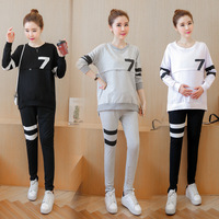 2017 new Maternal Abdomen Cotton Sweater Suit Pregnant Breast Feeding Clothes Clothes For Pregnant Women Pajamas outwear