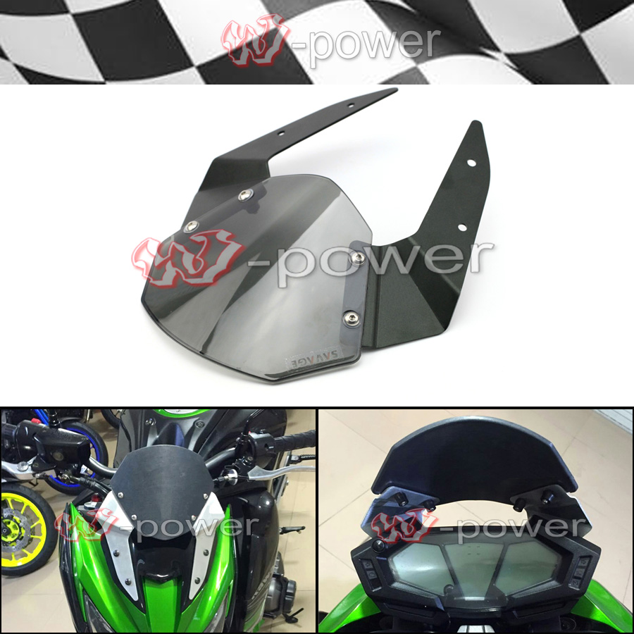 For KAWASAKI Z800 2013-2016 Windshield Windscreen Pare-brise Smoke Motorcycle Accessories