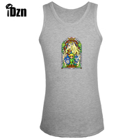 Fitness Bodybuilding Clothing Gym Singlets Men Tank Top Animation Legend Of Zelda Stained Glass Sleeveless Vest