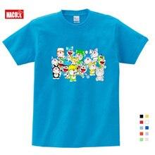 2019 Summer New Doraemon Cartoon Print Tee Tops For Boy Girls Clothing Children Funny lovely Kids T Shirt