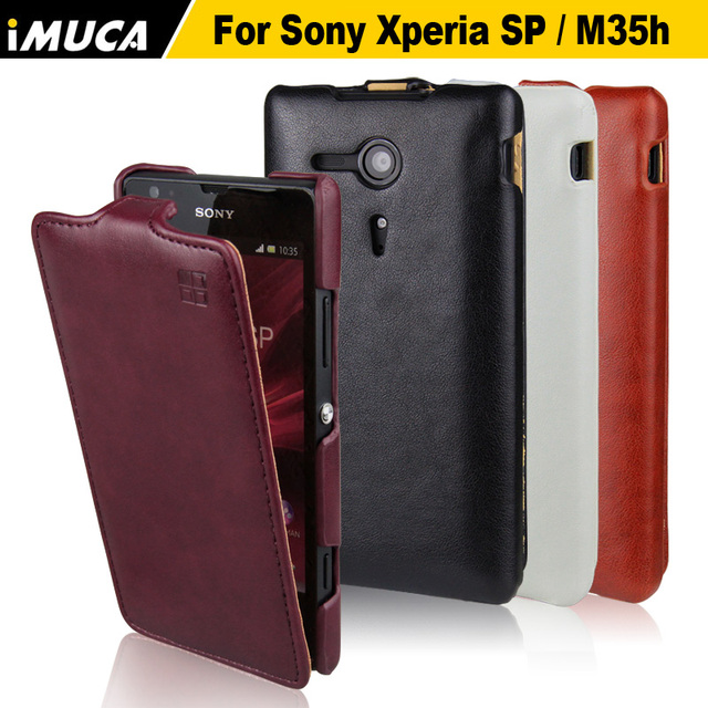 huge discount bf4a1 441ed US $10.5 |for SONY Xperia SP Case Luxury Flip Leather Case for Sony Xperia  C5303 M35C M35h C5302 C5306 Vertical Phone Cover Capa iMUCA on ...