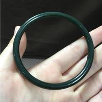Koraba Fine Jewelry NATURE GRADE A BEAUTIFUL DARK GREEN HeTian JADE BRACELET BANGLE Free Shipping